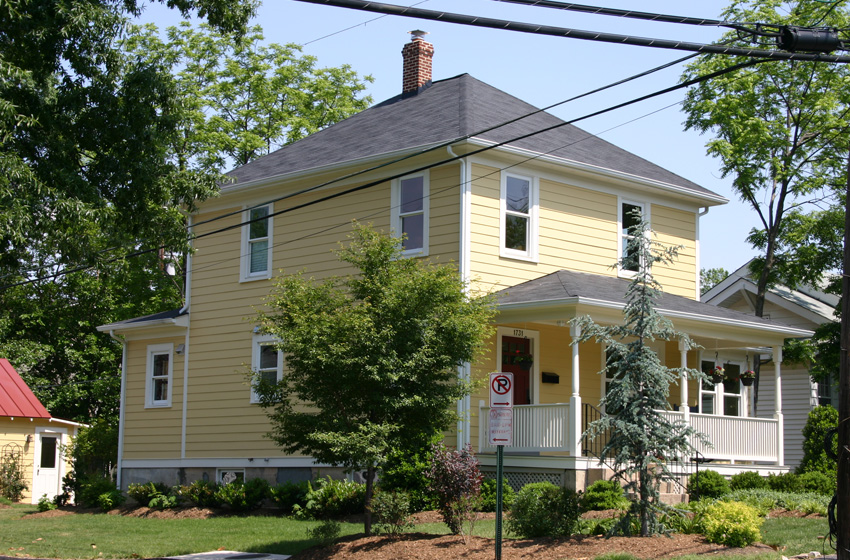 Front Elevation Before And After : Arlington renovation remodelers in northern virginia