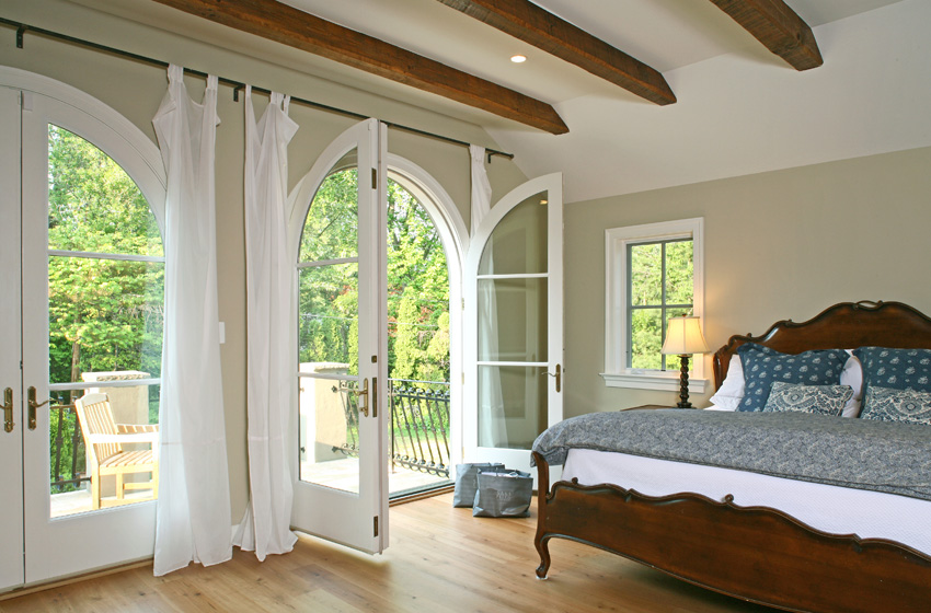 Bedroom french doors - bedroom at real estate.
