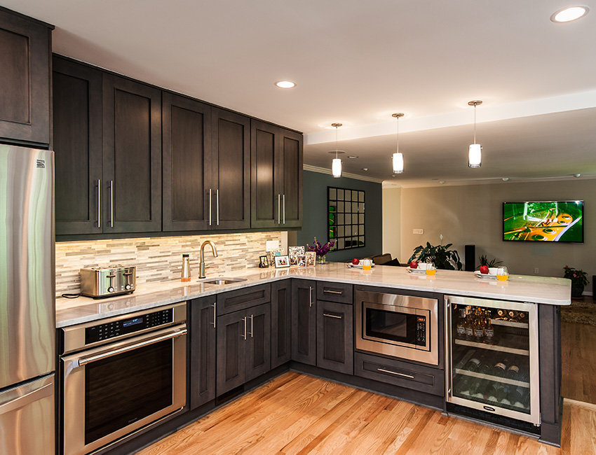 Modern Kitchen Renovation langley oaks kitchen renovation - remodeling northern va