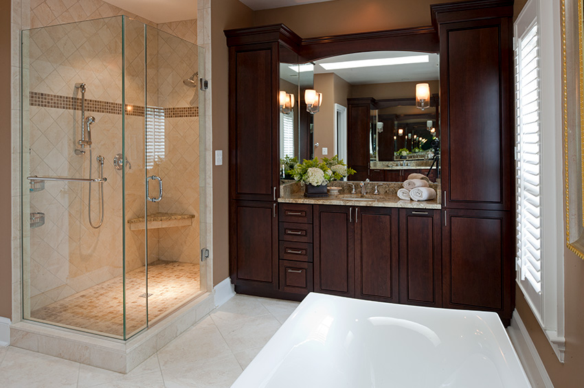 Updating the luxury bath in mclean remodeling northern va How much to build a house in northern virginia