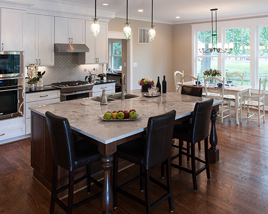 Falls church home builder northern va for Casual home kitchen island