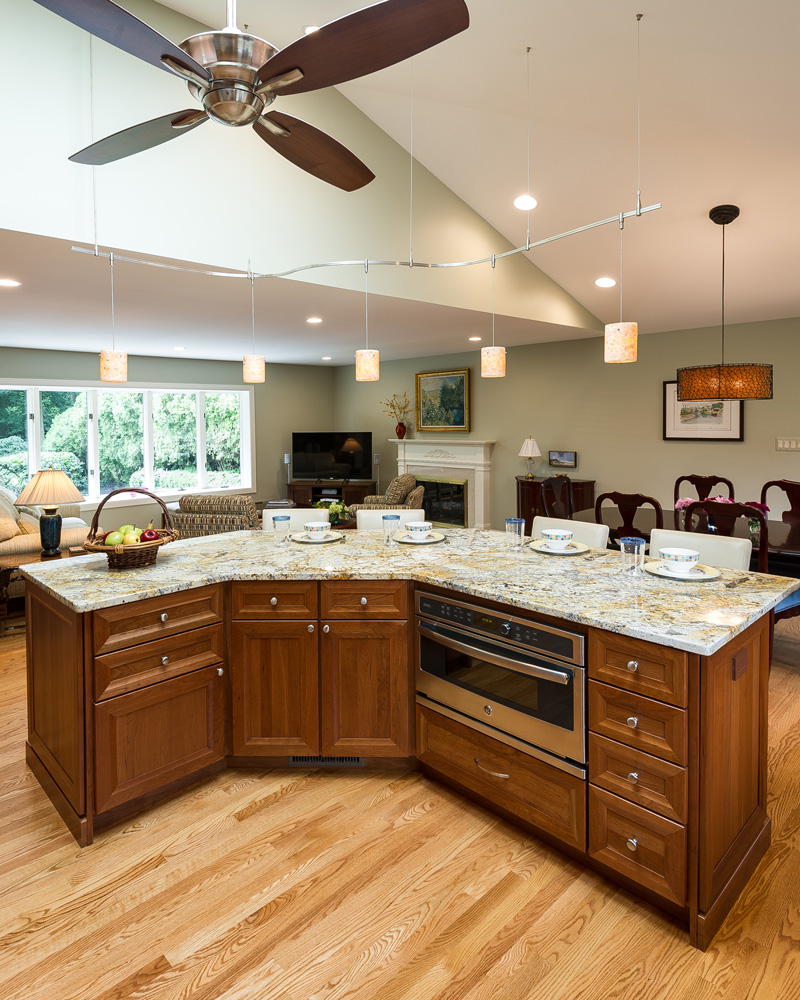 kitchen and living room floor plans open floor plan kitchen renovation in northern virginia